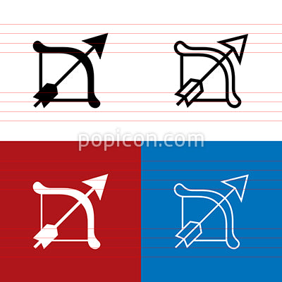 Bow And Arrow Icon Set