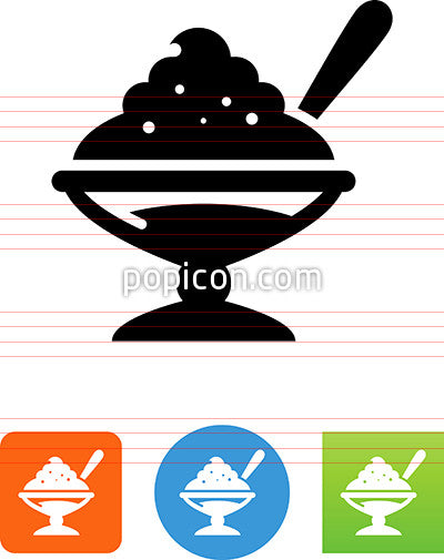 Bowl Of Dessert Icon