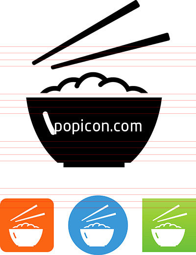 Bowl With Chopsticks Icon