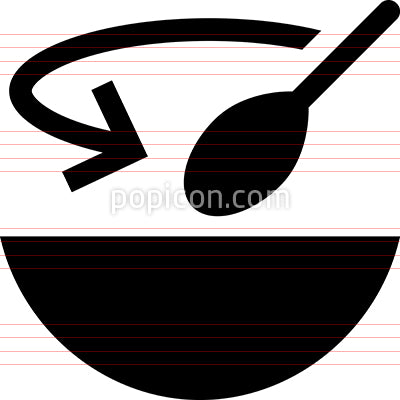 Bowl With Spoon Vector Icon