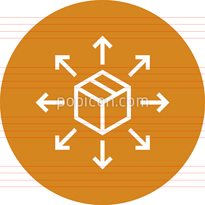 Box Shipping Logistics Outline Icon