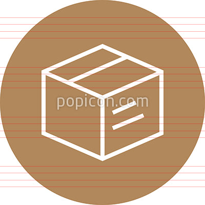 Box Package Product Outline Icon