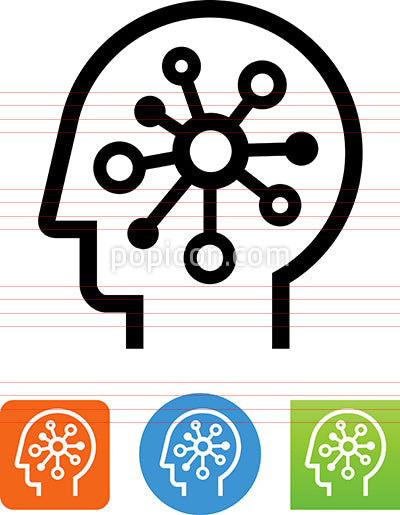 Brain With Star Neural Network Icon