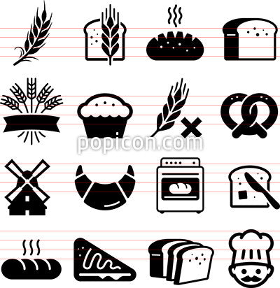Breads And Grains Icons