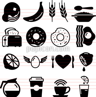 Breakfast Icons - Black Series