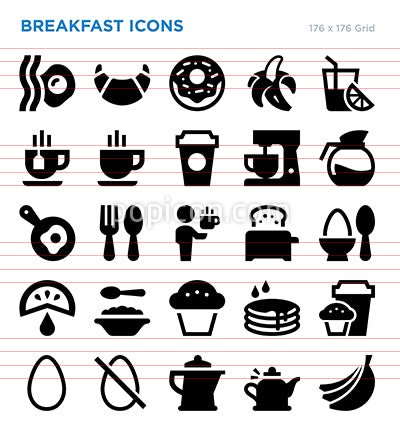 Breakfast Vector Icon Set