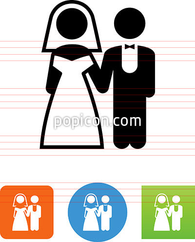 Bride And Groom Icon