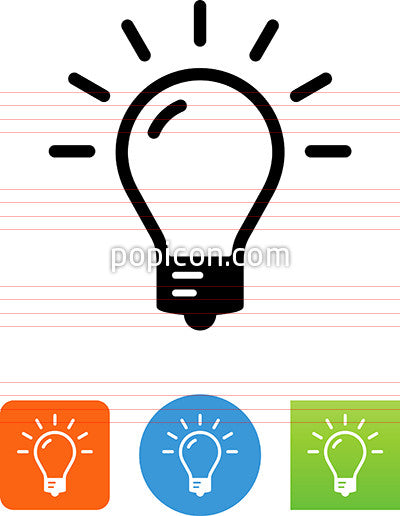 Bright Light Bulb Icon