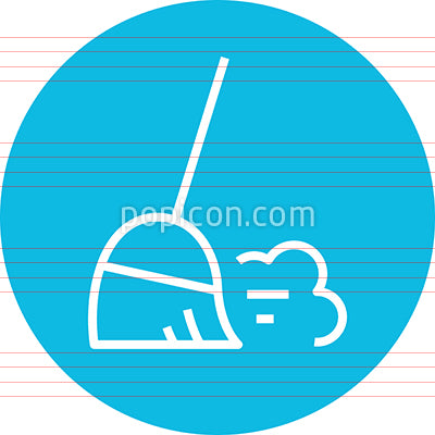 Broom Sweep Dust Cloud Outline Icon