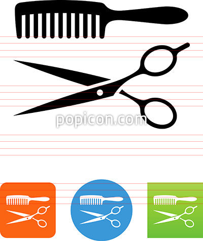 Brush And Scissors Icon