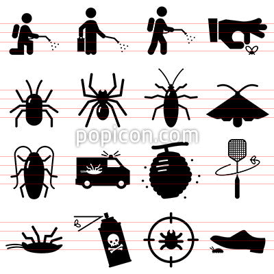 Bug Exterminators Icons - Black Series