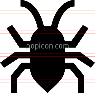 Bug Insect Vector Icon
