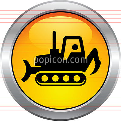 Bulldozer Button Icon