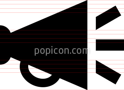Bullhorn Announcement Megaphone Vector Icon