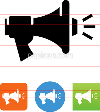 Bullhorn Blasting Sound Icon