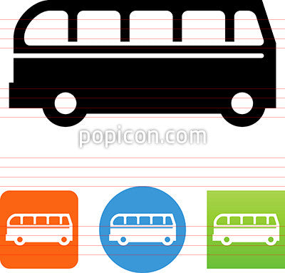 Bus Detailed Side View Icon