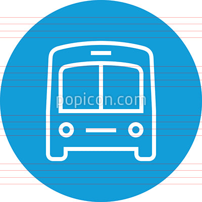 Bus Transportation Outline Vector Icon