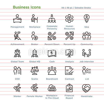 Business Icons - Outline