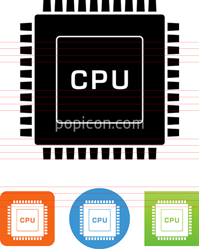 CPU Computer Chip Icon