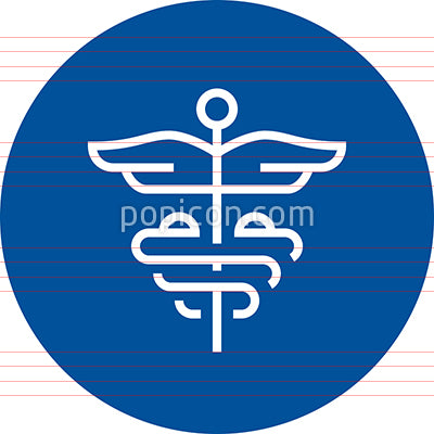 Caduceus Healthcare Medicine Outline Icon