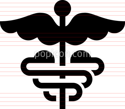 Caduceus Healthcare Vector Icon