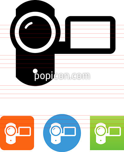 Camcorder With Playback Screen Icon