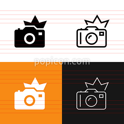 Camera Flash Icon Set
