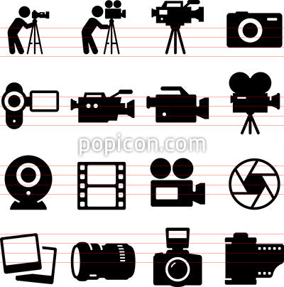 Camera Icons - Black Series