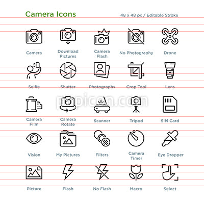 Camera Icons - Outline