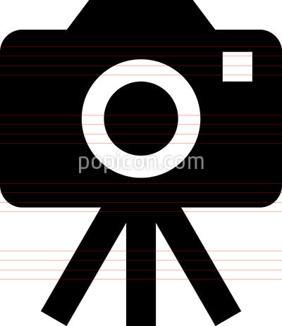 Camera On Tripod Vector Icon
