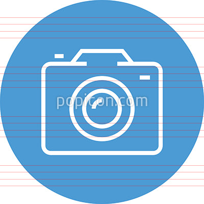 Camera SLR Pictures Outline Icon