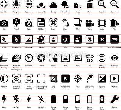 Camera Settings Icon Set