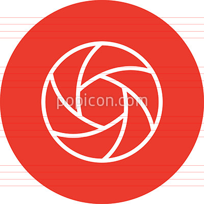 Camera Shutter Aperture Outline Icon