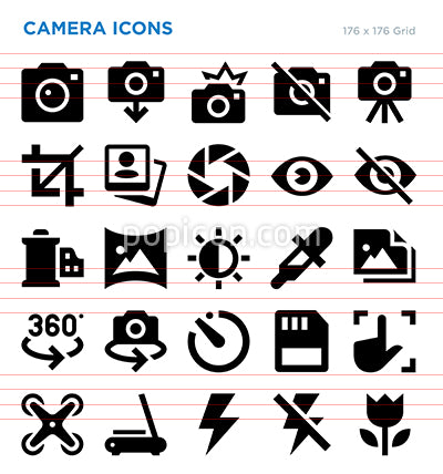 Camera Vector Icon Set