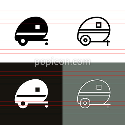 Camper Icon Set