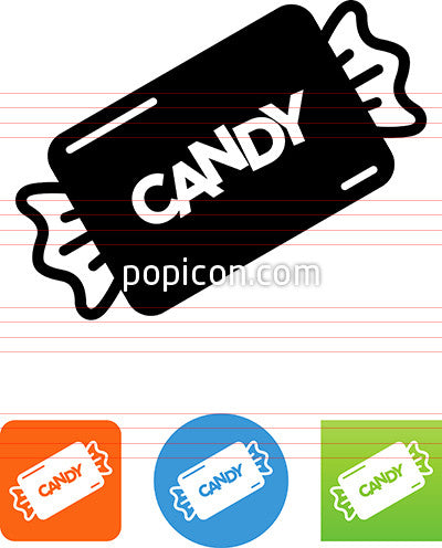 Candy With Lettering Icon