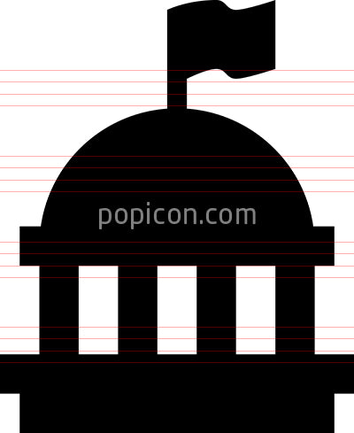 Capital Building Vector Icon