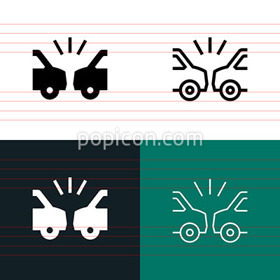 Car Accident Icon Set