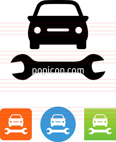 Car And Wrench Icon
