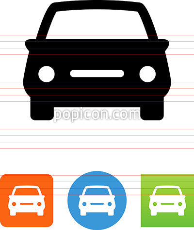 Car Icon - Front View - Generic