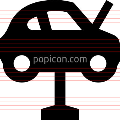 Car Lift Garage Icon