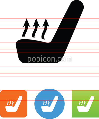 Car Seat Temperature Icon