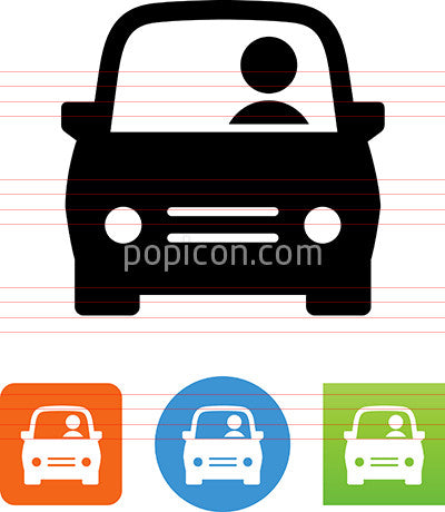 Car With Driver Icon