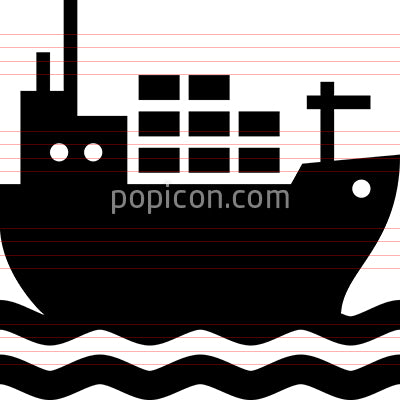 Cargo Ship Vector Icon