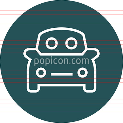 Carpool Ride Share Outline Icon