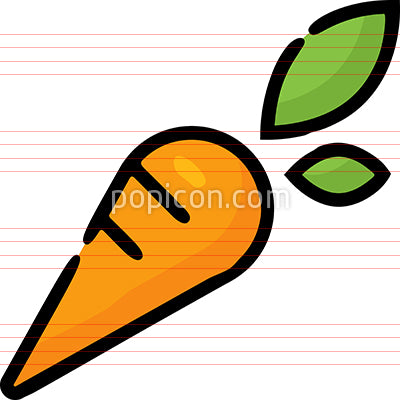 Carrot Vegetable Hand Drawn Icon