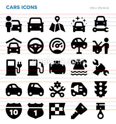 Cars Vector Icon Set