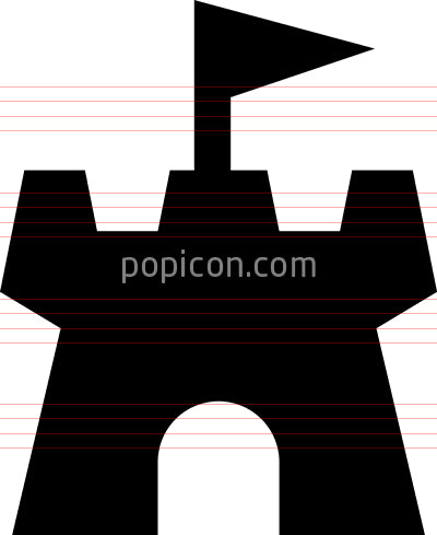 Castle Kingdom Vector Icon