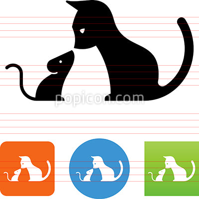 Cat And Mouse Icon