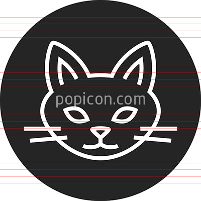 Cat Feline Head Outline Icon